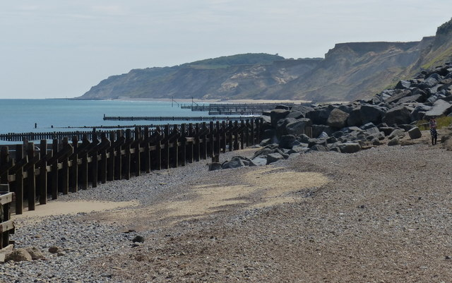 Beach and sea defences at Overstrand