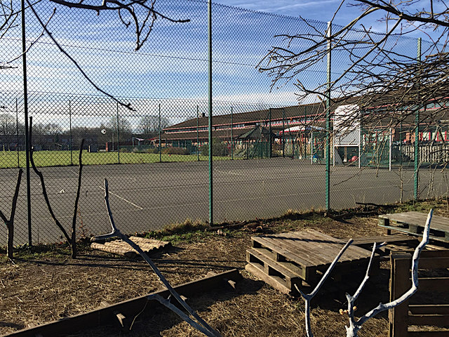 Recreation areas, Ridgeway School, Woodloes Park, north Warwick