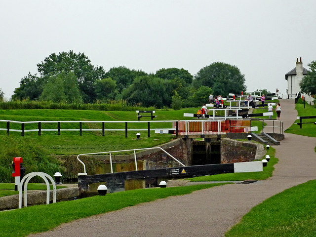 Upper staircase at Foxton Locks, Leicestershire