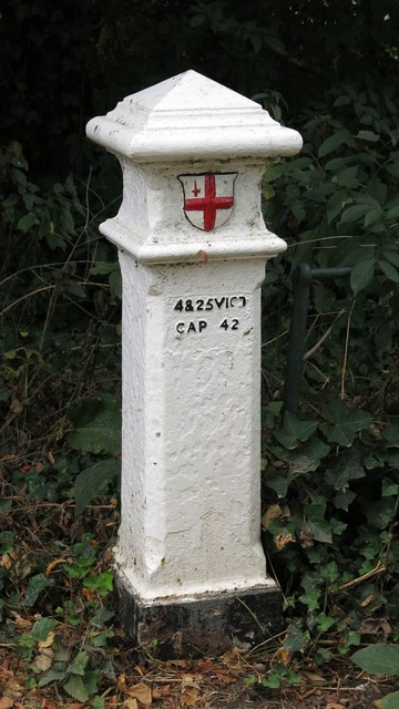 Coal tax boundary post no.84, by River Park Avenue
