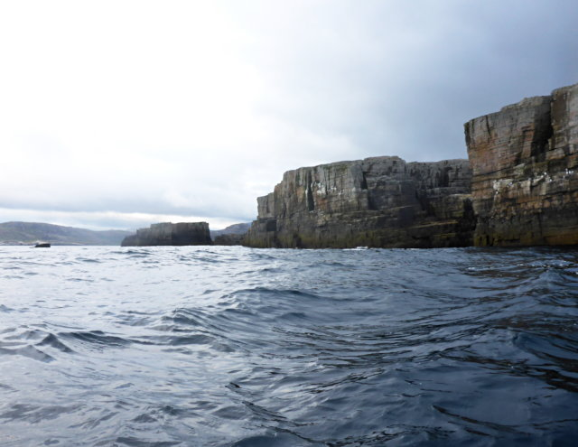 Northeast cliffs of Eilean Clùimhrig
