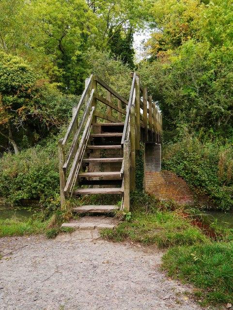 Footbridge steps, Royal Wootton Bassett, Wilts