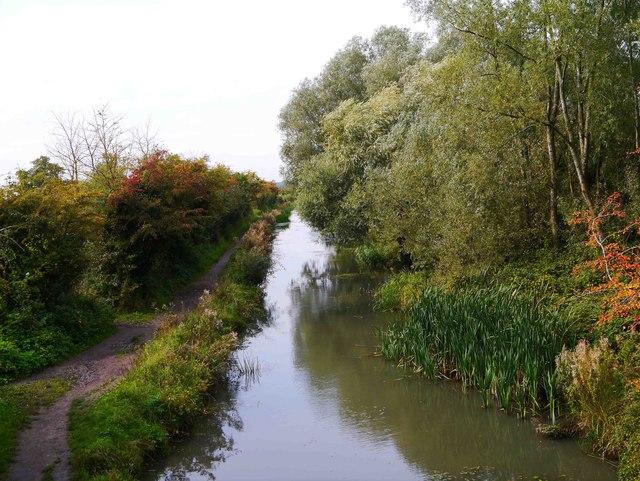 Restored section of Wilts & Berks Canal, Royal Wootton Bassett, Wilts