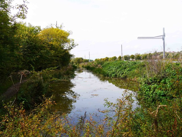 Current eastern terminus of restored section of canal at Royal Wootton Bassett, Wilts