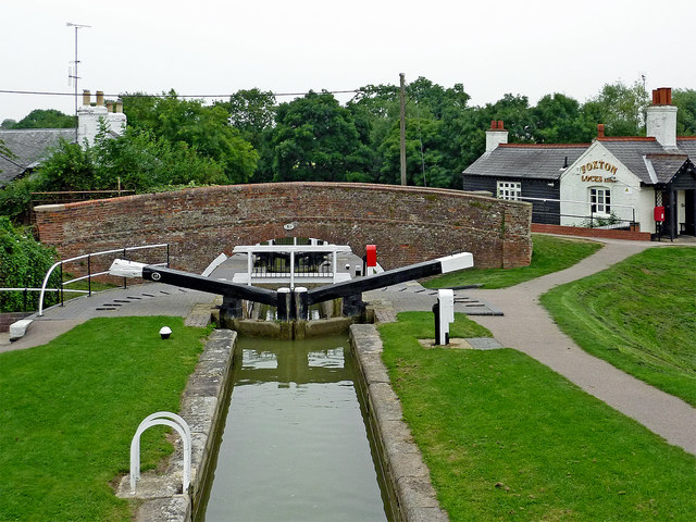 Lock No 16 and bridge at Foxton in Leicestershire