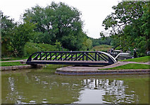 SP6989 : Swing bridge at Foxton Junction in Leicestershire by Roger  Kidd