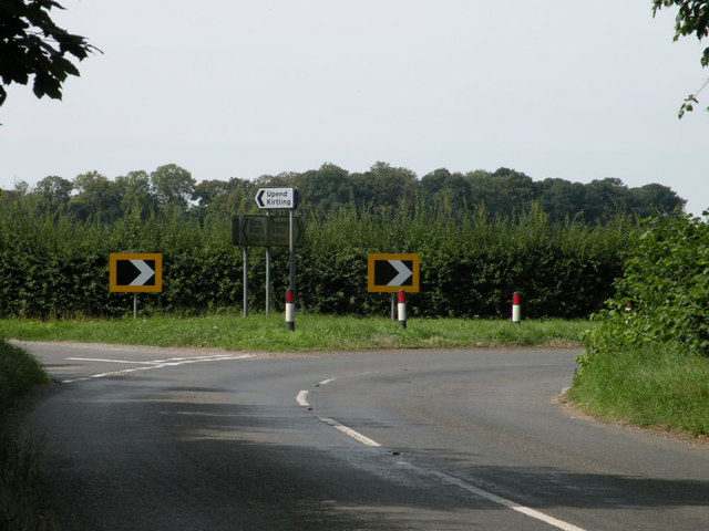 Junction on B1063 road from Ousden