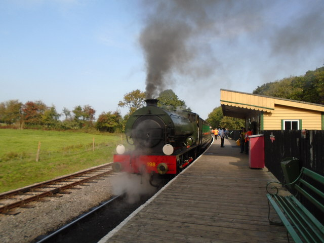 Steam train at Smallbrook station