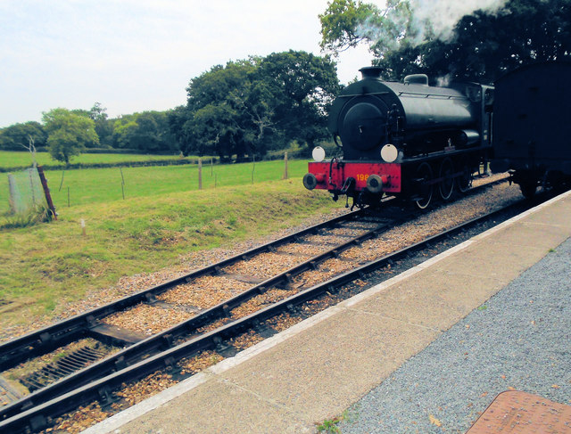 Engine being reversed at Wootton
