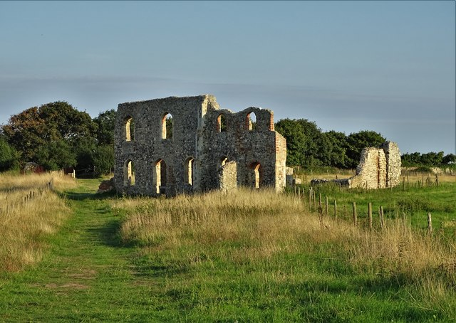 Ruins of the Franciscan friary in Dunwich