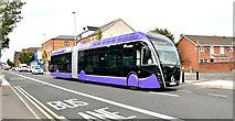 J3574 : Glider bus, Albertbridge Road, Belfast - September 2018(1) by Albert Bridge