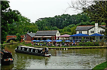 SP6989 : Foxton Locks Inn at Foxton Junction, Leicestershire by Roger  Kidd