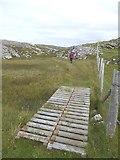 NB1338 : Duckboard on the Great Bernera coast path by Oliver Dixon