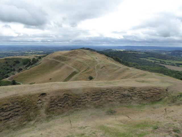 Millennium Hill from Herefordshire Beacon / British Camp in the Malvern Hills