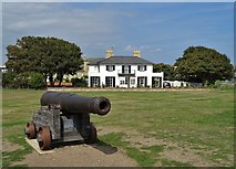 TM5075 : Grand house on Gunhill Cliff, Southwold by Neil Theasby