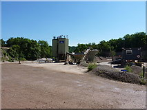 SJ2624 : Readymix concrete plant in Llynclys Quarry by Richard Law