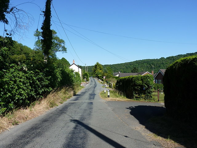 Along Cefn Lane in Porth-y-waen village
