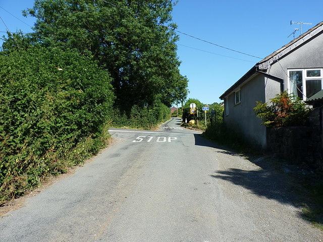 Cefn Lane crosses Blodwel Bank