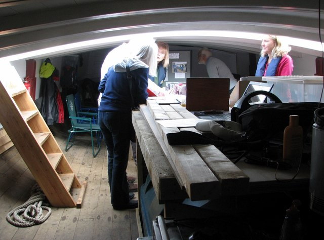 The trading wherry 'Maud' - the cargo hold