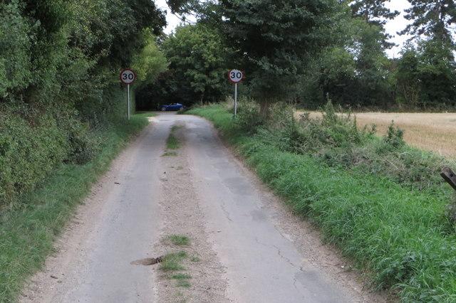 Road into Hinton