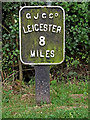 SP6097 : Canal milepost near Wigston in Leicestershire by Roger  Kidd