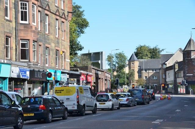 Traffic in Roseburn Terrace, Edinburgh