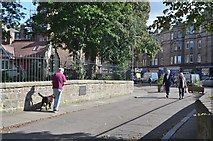 NT2273 : Old bridge over the Water of Leith by Jim Barton