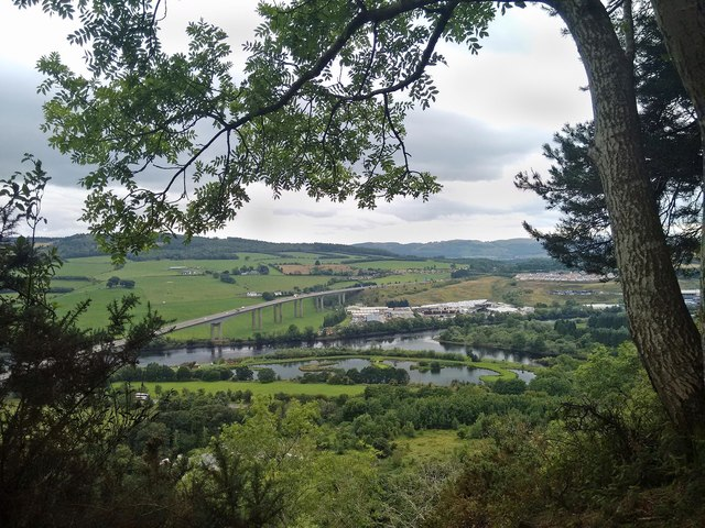 View from lower slopes of  Kinnoull Hill, Perth