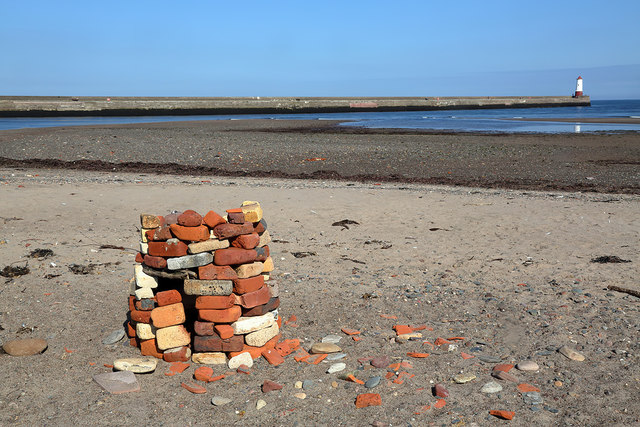 A cairn at Sandstell Point