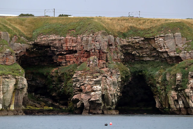 Caves on the Berwickshire Coast