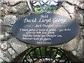 SH4738 : Inscription at David Lloyd George's Grave by David Hillas