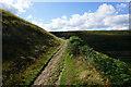 SE0608 : Pennine Way towards Great Hey Cote Hill by Ian S