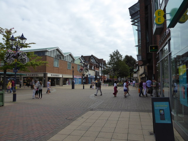 Part of the shopping streets in Solihull