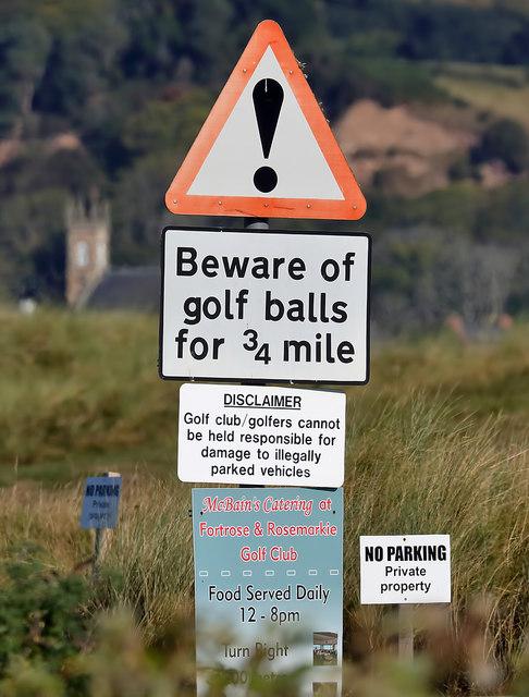 Beware of golf balls