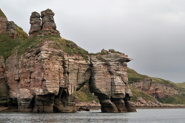 Needles Eye natural arch on the Berwickshire Coast
