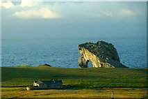 HT9541 : Ristie and Gaada Stack, Foula by Mike Pennington