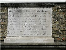 TG2309 : The Great Hospital and St Helen's church - stone plaque by Evelyn Simak