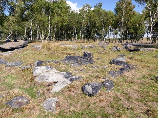Stones on Gardom's Edge
