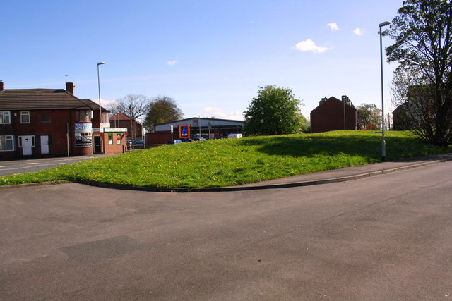 Grass area at junction of Back Lane and Stanningley Road