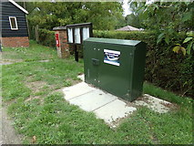 TL8928 : Fibre Box on the A1124 Colchester Road by Adrian Cable