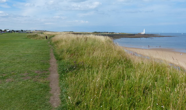 Path along the coast at the Whitley Bay Mini Golf Course