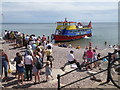 SY1287 : Queuing for the trip boat, Sidmouth by Chris Allen