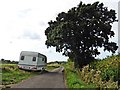ST5137 : 'Traveller's' caravans on Kennard Moor Drove by Roger Cornfoot