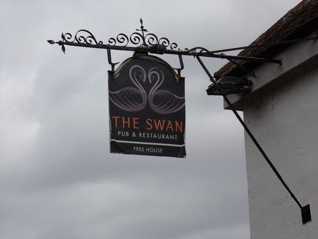 The Swan Inn Public House sign