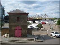TQ3880 : Blackwall: Poplar Dock Accumulator Tower (2 of 2) by Nigel Cox