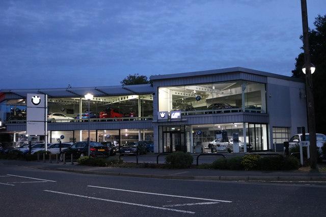 BMW garage on Charnham Street, Hungerford