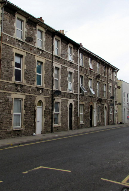 Row of three-storey houses, Alfred Street, Weston-super-Mare