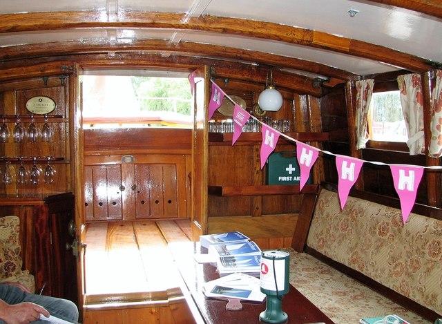 The Wherry Yacht 'Norada' - the saloon