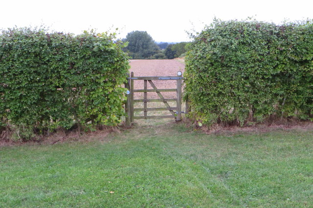 Gate on the bridleway to Cobbler's pits spinney