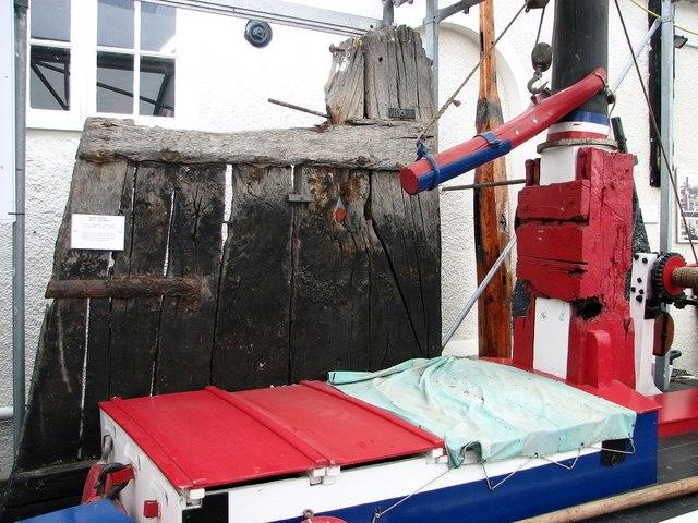 Museum of the Broads - wherry rudder
